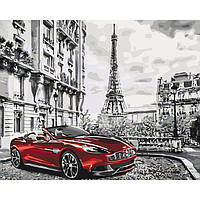 """Картина за номерами. Міський пейзаж """"Ранок у Парижі"""" KHO3514, 40*50 см"""