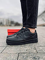 Форсы черные классик НАЙК,Nike Air Force Classic,мужские кроссовки