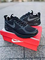 Найк Ран черные, Кроссовки Nike Air Running,мужские кроссовки