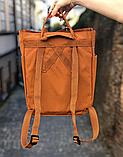 Сумка рюкзак 2в1 Kanken FJALLRAVEN Totepack Канкен 14 л Помаранчевий міської сумка-рюкзак трансформер, фото 3
