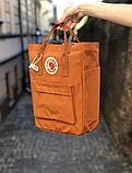 Сумка рюкзак 2в1 Kanken FJALLRAVEN Totepack Канкен 14 л Помаранчевий міської сумка-рюкзак трансформер, фото 5