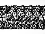 Мереживо макраме чорного кольору, ширина 25 див., фото 4