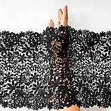 Мереживо макраме чорного кольору, ширина 25 див., фото 2