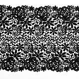 Мереживо макраме чорного кольору, ширина 25 див., фото 6