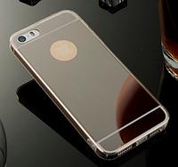 Черный зеркальный силиконовый чехол для iphone 6/6S