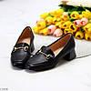 Люксові чорні жіночі туфлі на низькому каблуці в асортименті 38-24,5 40-26см, фото 7