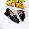Люксові чорні жіночі туфлі на низькому каблуці в асортименті 38-24,5 40-26см, фото 8