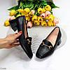 Люксові чорні жіночі туфлі на низькому каблуці в асортименті 38-24,5 40-26см, фото 10