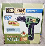 Аккумуляторный шуруповерт ProCraft PA-12 Li Compact, фото 3