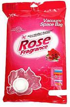 Вакуумный мешок для хранения 50см х 60см, розовый рисунок