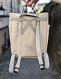 Сумка рюкзак 2в1 Kanken FJALLRAVEN Totepack Канкен 14 л серая повседневная городская сумка-рюкзак трансформер, фото 5