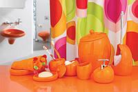 Набор аксессуаров в ванную комнату 5 предметов Нора оранжевый