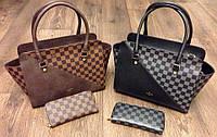 Новая коллекция. Женская модная сумка LOUIS VUITTON в черном и коричневом цветах AB1613