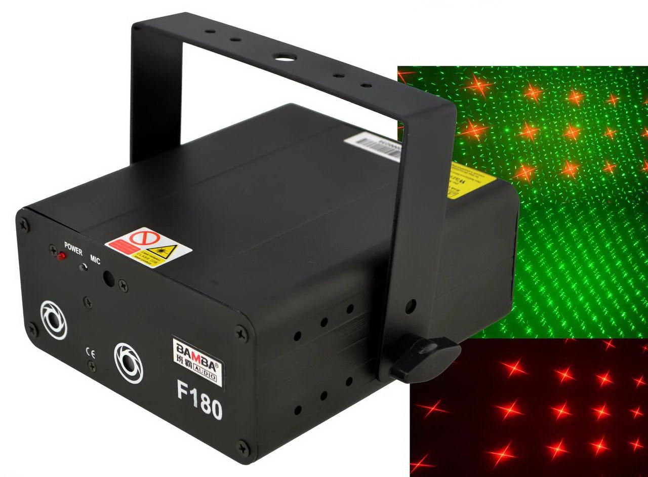 Лазерна установка F180 Black (лазерний проектор, стробоскоп, диско лазер) BAMBA