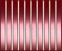 Реечные алюминиевые зеркальные потолки: медь со вставкой красное золото-зеркало