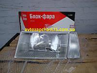 Фара Ваз 2108, Ваз 2109, Ваз 21099 левая с белым поворотником (производитель Освар, Россия)