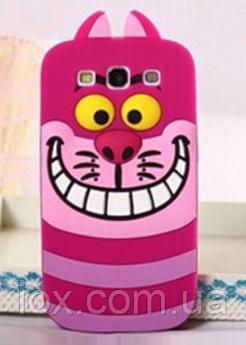 """Силиконовый чехол """"Розовый кот"""" на Samsung S3"""