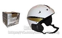"""Гірськолижний шлем - унісекс (АВS, р.р """"L"""" біло-золотий)"""