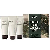 Подарочный набор уходовой косметики для тела Ahava Naturally Revitalizing Experience Boxed Set 3 х 100 мл
