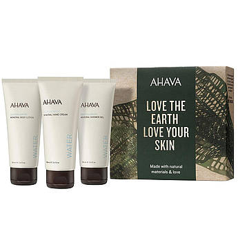 Подарунковий набір уходових косметики для тіла Ahava Naturally Revitalizing Experience Boxed Set 3 х 100 мл