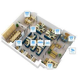 IP відеоспостереження 7 камер (2Мп) для соц. інфраструктури