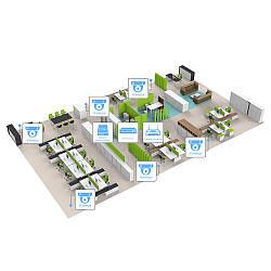 IP відеоспостереження 6 камер (4Мп) для соц. інфраструктури