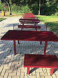 Антивандальний металевий стіл