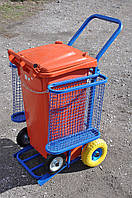 Тележка для уборки уличная c баком SULO 120л