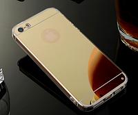 Зеркальный золотой силиконовый чехол iphone 5/5S