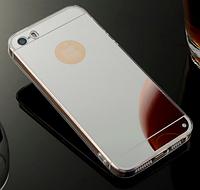 Зеркальный серебряный силиконовый чехол iphone 5/5S, фото 1