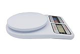 Мини весы кухонные электронные до 7 кг платформа настольные DOMOTEC с функцией автовыключением SF-400 (374), фото 5
