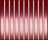 Реечные алюминиевые зеркальные потолки: медь с бежевой вставкой