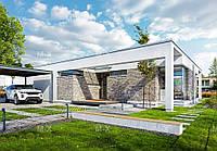 МХ56 -яркий представитель проектов домов с плоской крышей
