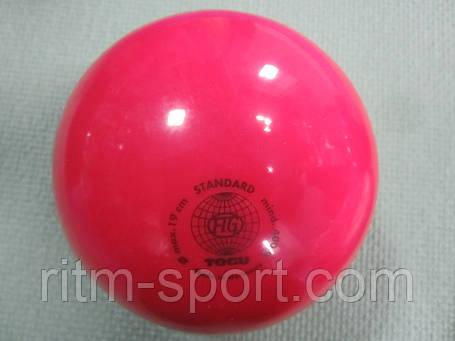 Мяч для художественной гимнастики розовый T0GU (400 г), фото 2