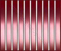 Реечные алюминиевые зеркальные потолки: медь с белой вставкой