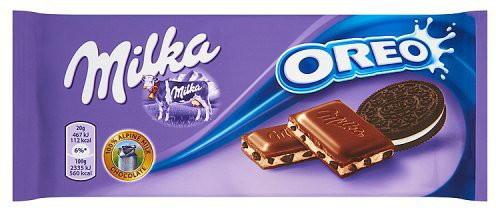 Шоколад молочний Milka Oreo (мілка з ванільним печивом), 100 гр