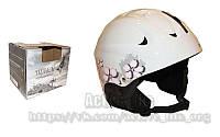 """Жіночий гірськолижний шлем  (АВS, р.р """"S,M"""" ,білий)"""