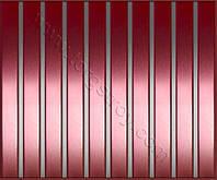 Реечные алюминиевые зеркальные потолки: медь со вставкой нержавейка