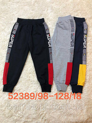 Спортивные брюки для мальчиков оптом, Seagull, 98-128 рр, фото 2