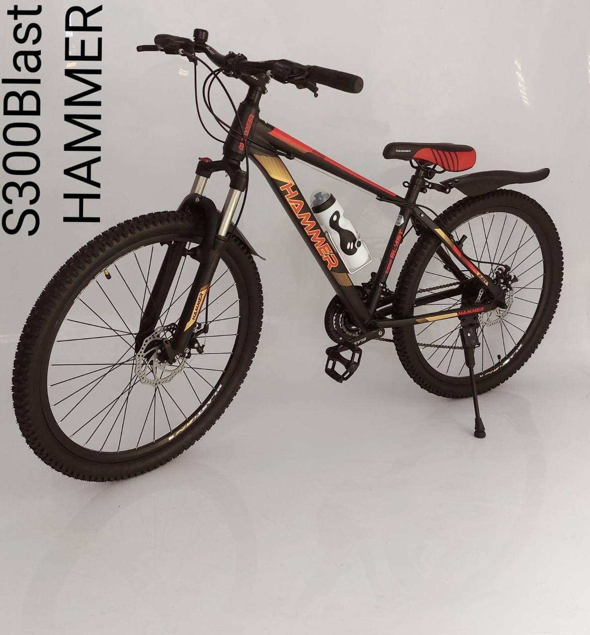 Горный алюминиевый подростковый велосипед с амортизацией S300 BLAST Диаметр колёс 24 Рама 13 Япония Shimano
