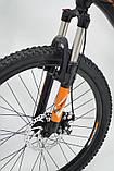 Горный алюминиевый подростковый велосипед с амортизацией S300 BLAST Диаметр колёс 24 Рама 13 Япония Shimano, фото 3