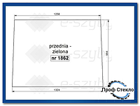 Стекло экскаватор-погрузчик Case 580ST 590ST 695ST 590SR 695SR -передний