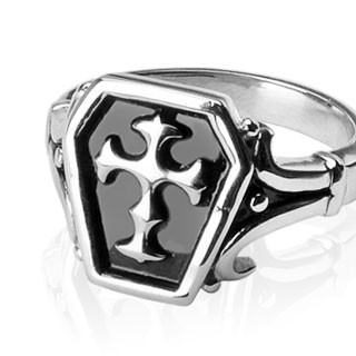 Мужское готическое кольцо с крестом Spikes (США)