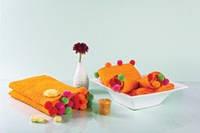 Мягкое полотенце с оригинальными разноцветными шариками по краям 50x90 см