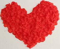 Лепестки роз искусственные 200 шт. Цвет красный. Украшение праздника, свадьбы, торжества