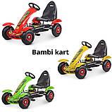 Дитячий педальний карт Bambi від 5 до 12 років до 50 кг веломобіль дитячий картинг колір зелений, фото 8