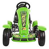 Дитячий педальний карт Bambi від 5 до 12 років до 50 кг веломобіль дитячий картинг колір зелений, фото 5