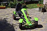 Дитячий педальний карт Bambi від 5 до 12 років до 50 кг веломобіль дитячий картинг колір зелений, фото 6