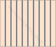 Реечный потолок: бежевая рейка со светло-синей вставкой, фото 1
