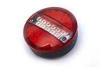 Задний фонарь кргулый диодный (красно-белый) 0040